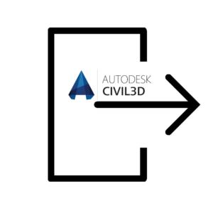 نحوه خروجی گرفتن از داده ها در civil 3d