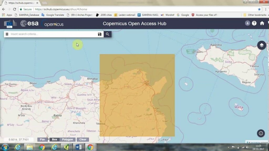 copernicus open access hub