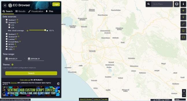 تصاویر ماهواره ای سنتینل و لندست