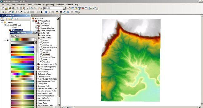 تصاویر رستر در arcmap
