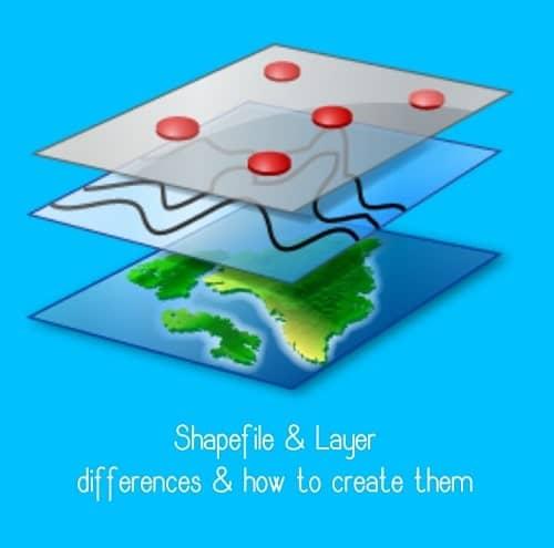 نحوه ساخت و تفاوت shaape file و layer
