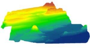 نمونه ای از مدل رقومی DEM