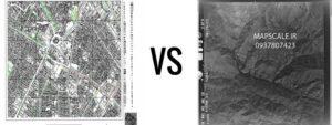 تقاوت عکس هوایی و نقشه
