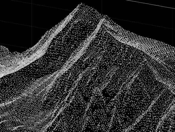 ابر نقاط یکی از اطلاعات حاصل از نقشه برداری با پهپاد