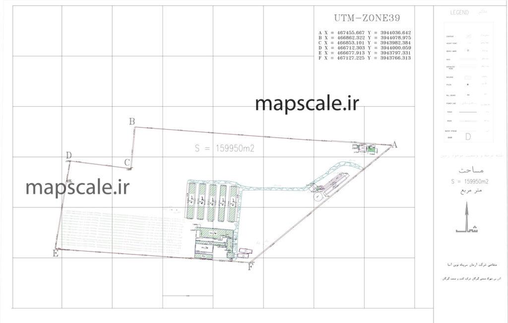 نمونه نقشه utm