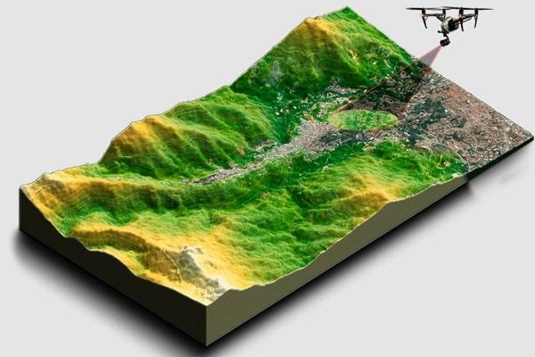 تهیه نقشه توپوگرافی با نقشه برداری هوایی