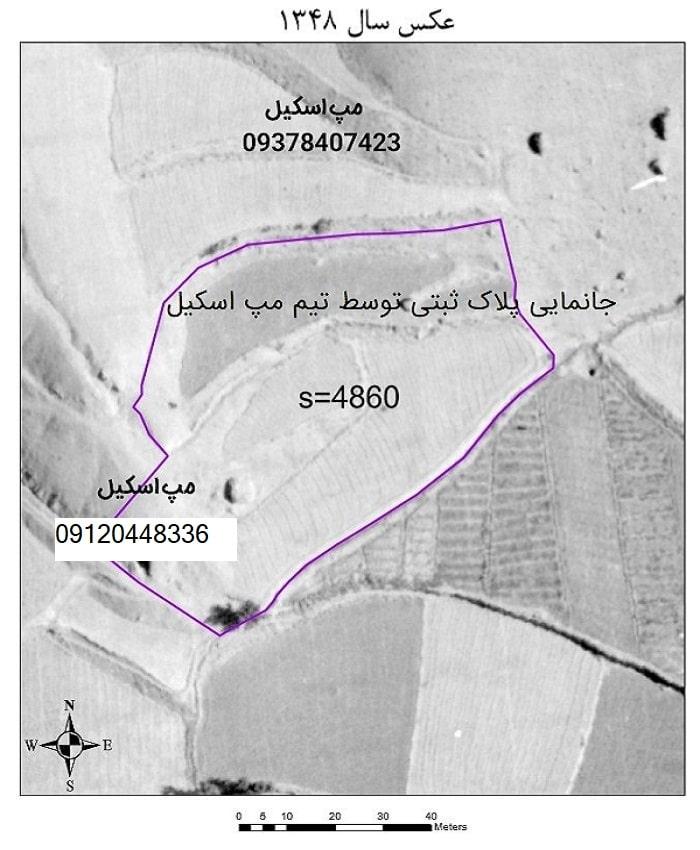 جانمایی ملک روی نقشه